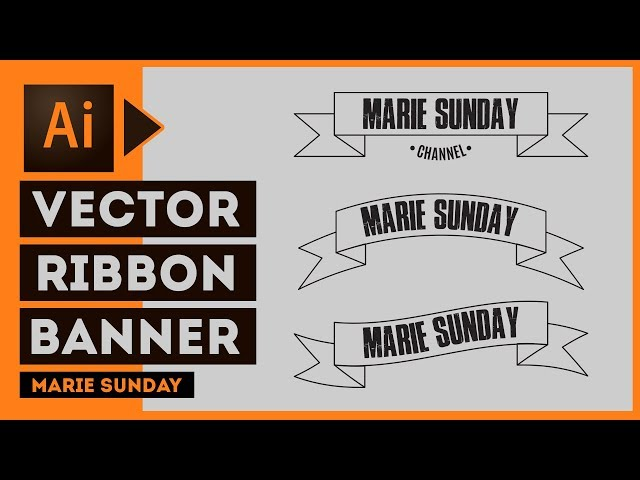 Illustrator CC // How to make a Vector Ribbon Banner 2018