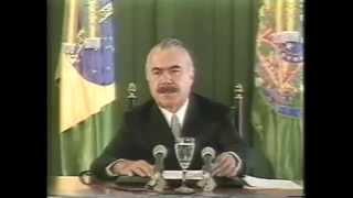 Plano Cruzado: anúncio do presidente José Sarney, 1986