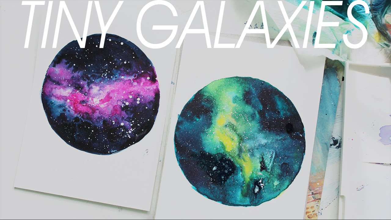 Tiny nebula watercolor painting youtube - Painting small spaces image ...