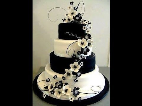 Gateau de mariage, wedding cakes -exemples - YouTube