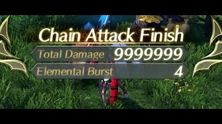 9999999 Damage Chain Attack [Xenoblade
