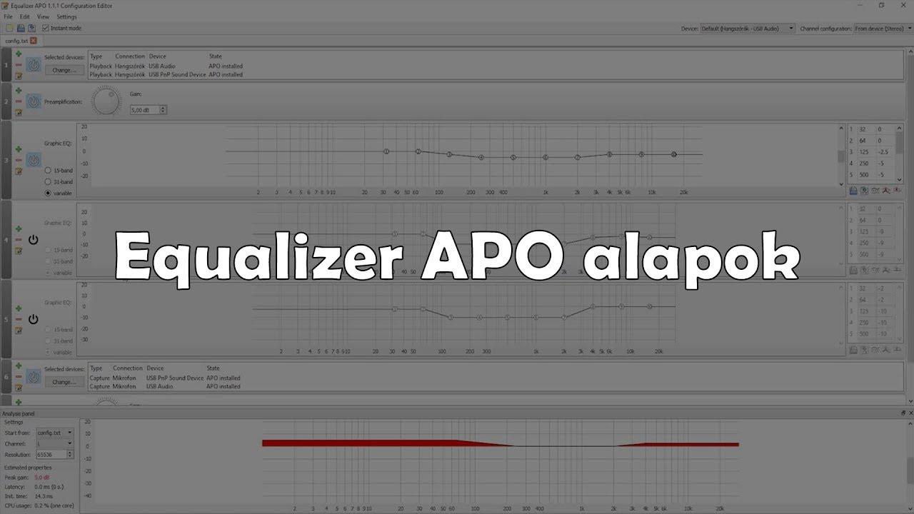 Equalizer APO alapok (tutorial) [HUN]