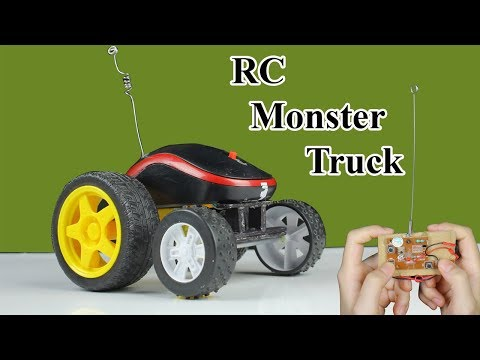 How To Make RC Monster Truck from Computer Mouse and Motor DC - Diy Toy Car With Mr H2 - 동영상