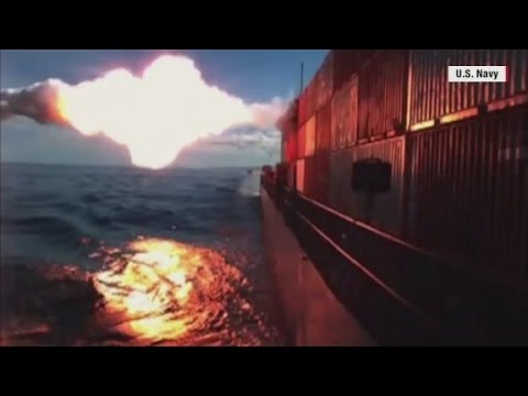 See Tomahawk missile strike a ship