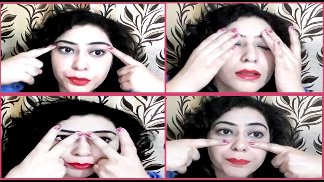 5 minute Face Yoga exercise to Get rid of Under Eye Dark ...