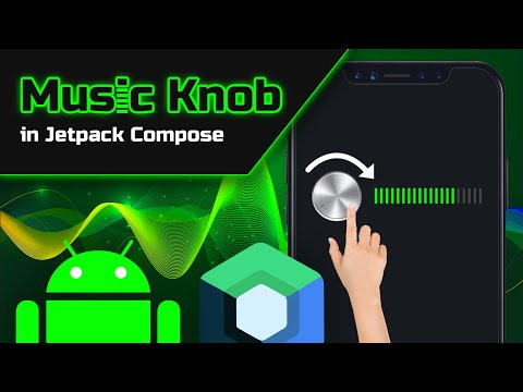 How to Make a Draggable Music Knob in Jetpack Compose - Android Studio Tutorial