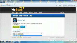 How to add Welcome tab on fb page