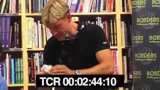 Bjørn Lomborg cream pied by Mark Lynas