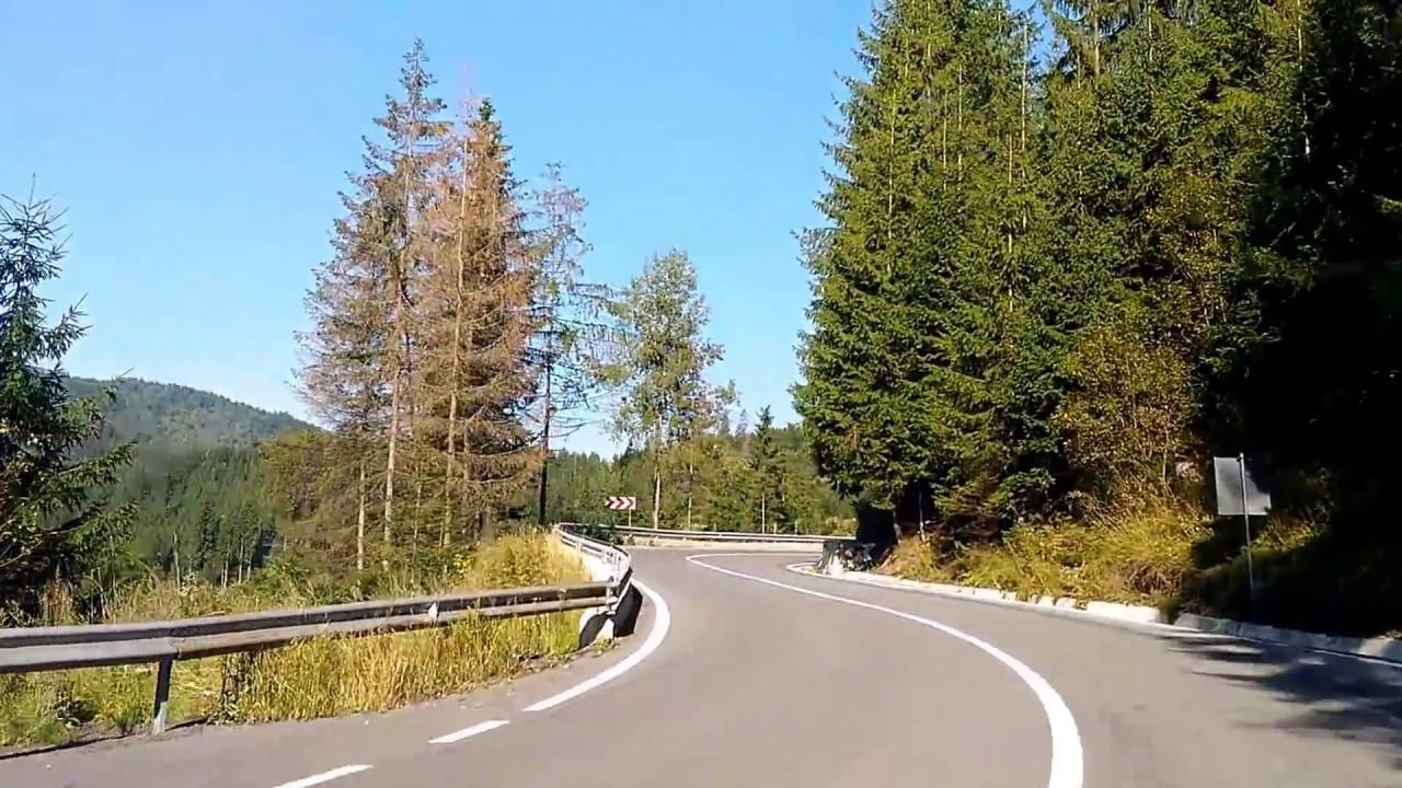 Румыния Горы Карапаты Дорога в горах - серпантины