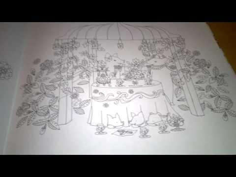 Story of Flowers and  Cats and Animals  Colouring Book Flip Through