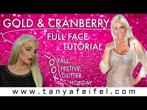 Gold & Cranberry Full Face Tutorial | Get Ready With Me | Holiday Look | Tanya Feifel-Rhodes