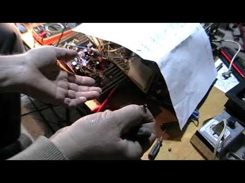 Усилитель Одиссей 010 ремонт стабилизатора и схемы защиты, настройка.