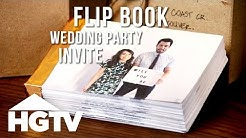 DIY Flip Book Wedding Party Invite - HGTV