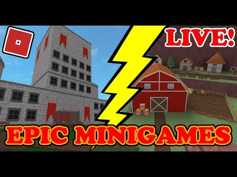 🔴EPIC MINIGAMES! LIVE NOW!! ROBLOX LIVE STREAM!