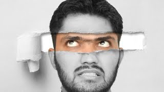 फटा हुआ कागज अन्दर से फोटो | Ripped/Torn Paper Portrait Effect in adobe Photoshop