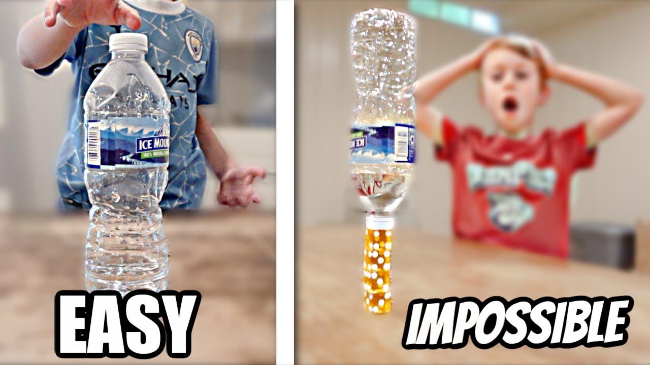 EASY vs IMPOSSIBLE Bottle Flips for $1000