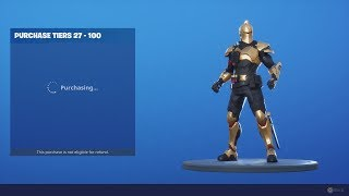 *UNLOCKING* ALL 100 TIERS (ULTIMA KNIGHT) Unlock SEASON X (10) Fortnite