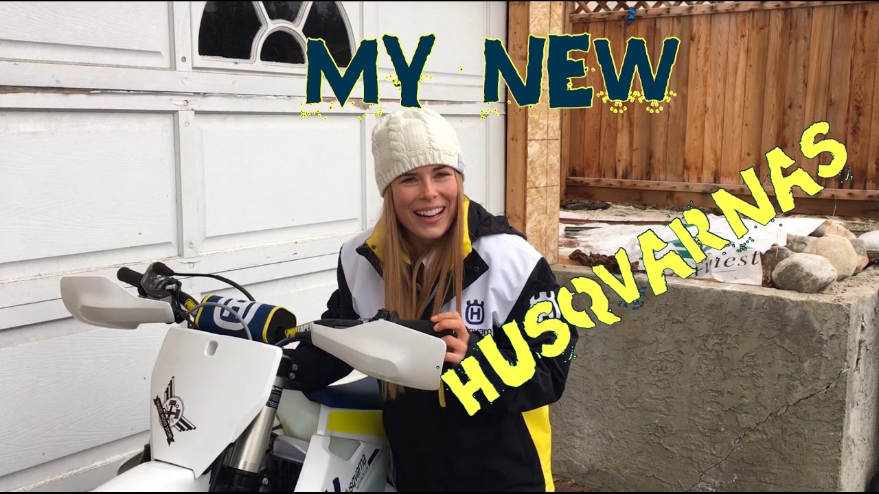 Watch For Motorcycles >> Megs' New 2017 Husqvarnas! - YouTube
