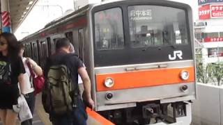 武蔵野線205系M4編成北朝霞駅発車