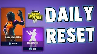 FORTNITE DAILY SKIN RESET - DARK VANGUARD SKIN - Fortnite Battle Royale New Items In Item Shop
