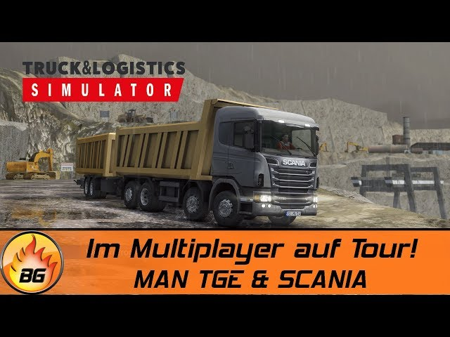 TRUCK & LOGISTICS SIMULATOR: Im Multiplayer mit dem MAN TGE und SCANIA! | Logistik Simulator [HD]