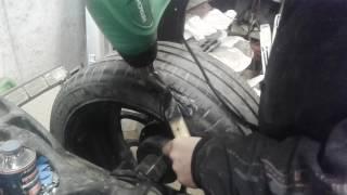 видео Трещина на шине