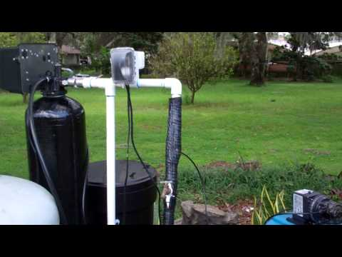 Well Water System Removes Iron & Hardness W/