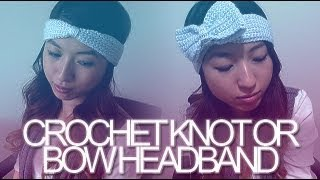 diy crochet knot or bow headband