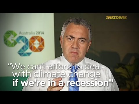 Joe Hockey on climate change at the G20