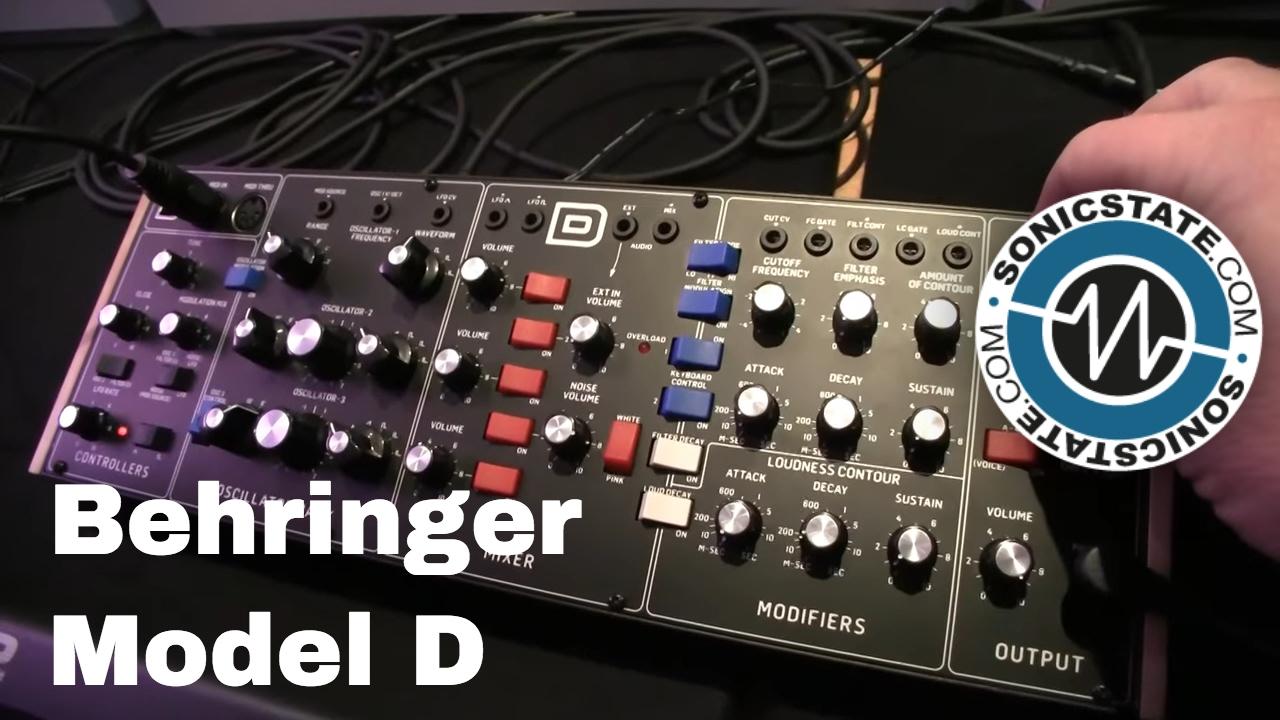 Superbooth 2017: Behringer Model D - First Look +Listen