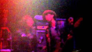 Michael Monroe and band performing Malibu Beach at the Colston Hall...