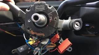 Volkswagen Transporter T4 Замена переключателей дворников, снимаем руль