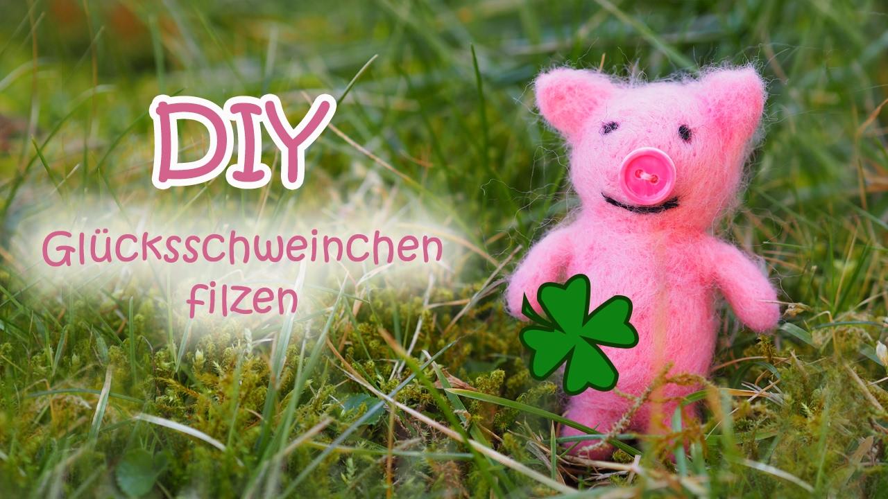 Schwein Filzen Diy Needle Felted Pig Youtube
