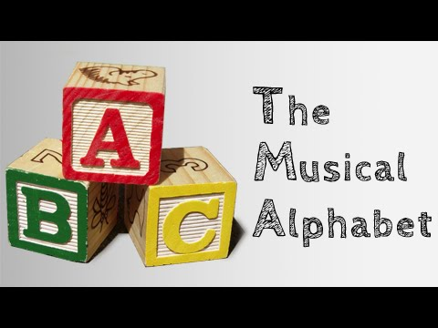The Musical Alphabet   - Beginner Music Theory Series 04