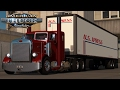 American Truck Simulator: Pete 351 dragging a U.S. Express long box - Phoenix to Camp Verde