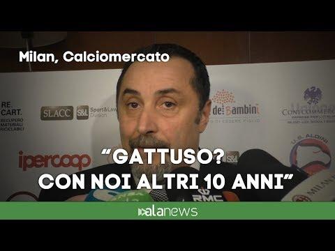 """Mirabelli: """"Gattuso al Milan per 10 anni. Andre Silva va aspettato"""""""