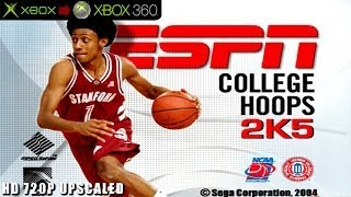 ESPN College Hoops 2K5 - Gameplay Xbox HD 720P (Xbox to Xbox 360)