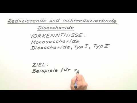 Reduzierende Und Nichtreduzierende Disaccharide Chemie Youtube