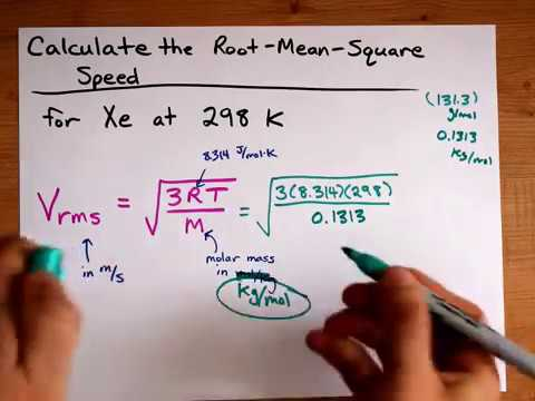 Calculate V Rms Root Mean Square Speed For A Gas Particle Youtube