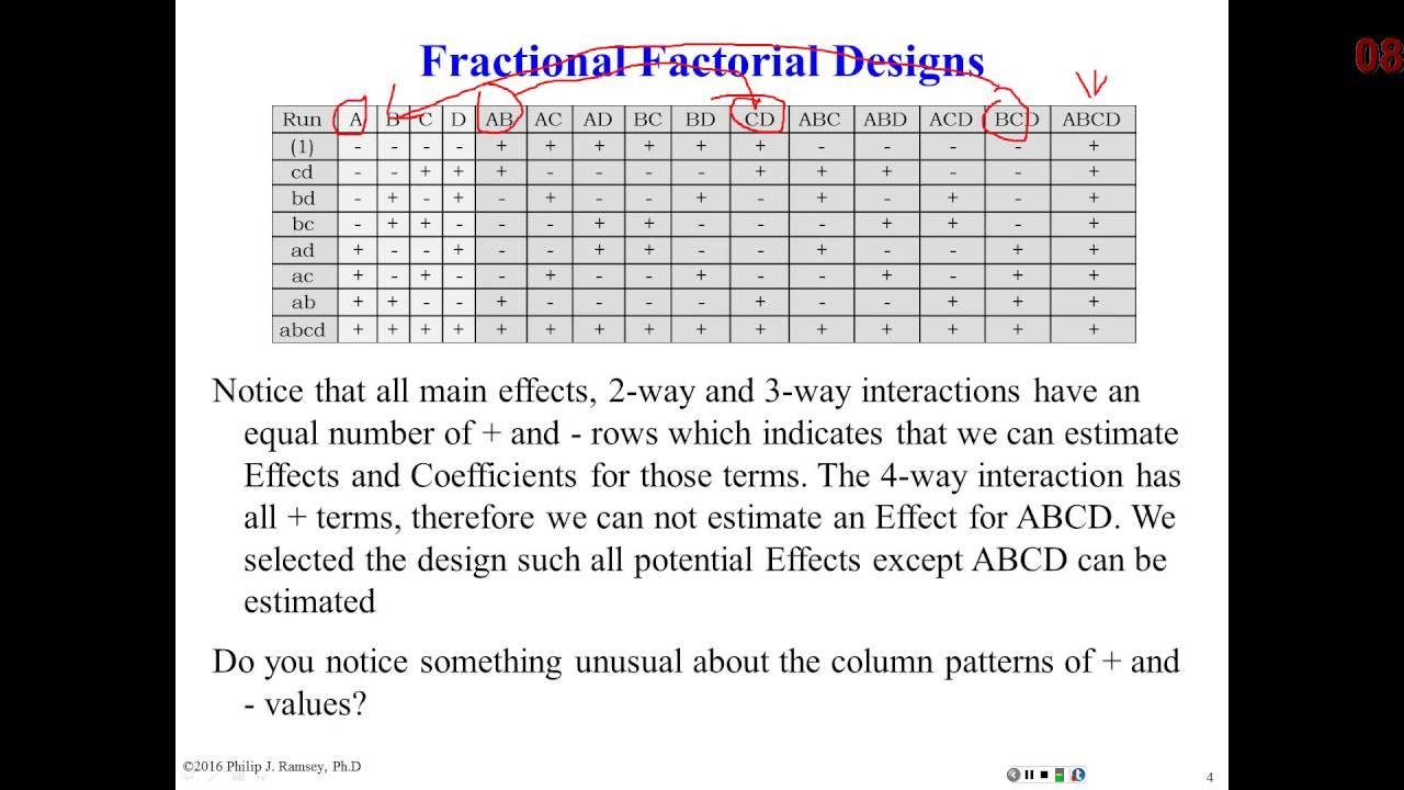 19 Fractional Factorial Designs Part 1