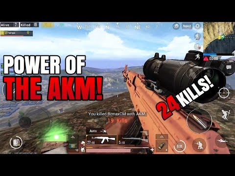 The POWER of AKM! | 24 Kills FPP Solo VS Squad | PUBG Mobile