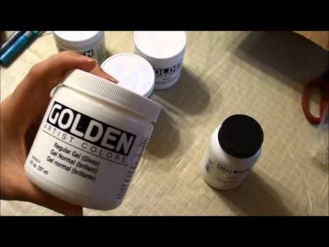 How to use Golden Gels Molding Pastes and Matte Medium