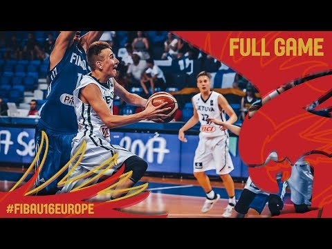 Lithuania v Finland - Full Game - Round of 16 - FIBA U16 European Championship 2017
