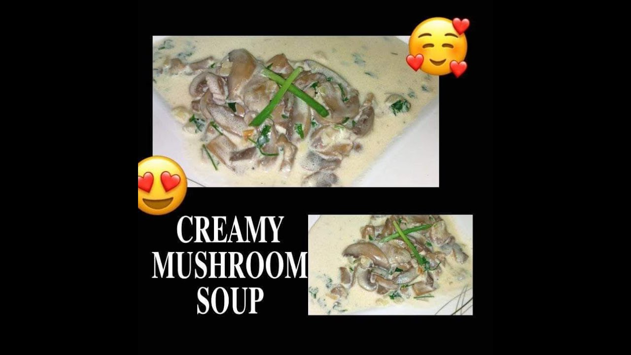 Creamy Mushroom Soup Pinoy Recipe Easy Cooking Starie Vlog Youtube