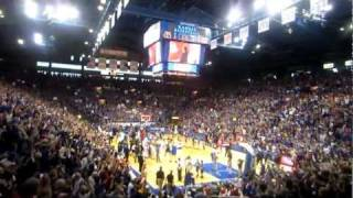 KU vs. MU basketball - last 8 seconds at Allen Fieldhouse and celebration that follows thumbnail