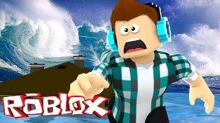 Roblox - UM TSUNAMI DESTRUIU MINHA CASA !! (Roblox Natural Disaster Survival)