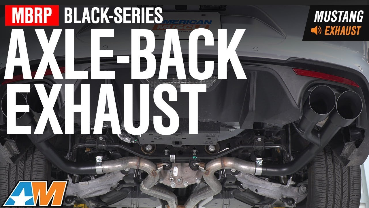 2018 mustang gt mbrp black series axle back exhaust sound clip install