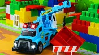Машинки для детей Кран, Трактор и Грузовик Мультфильмы для Детей Мультики про машинки