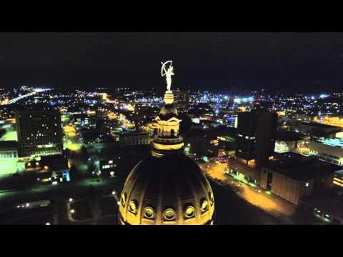 Topeka Capital Building Fly OVER night flight!  Jonathan Bozarth Phantom 3 Drone