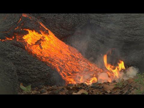 ハワイ・キラウエア火山の溶岩流 - Kīlauea